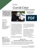 Sept 2010 Crier Newsletter Eastside Audubon Society