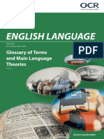 glossary of key terms and theories