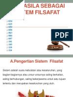 KELOMPOK SOSIAL Pancasila Sebagai Sistem Filsafat