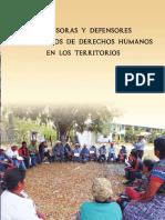 Defensoras y Defensores Comunitarios de Derechos en los Territorios