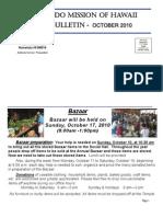 Jodo Mission of Hawaii Bulletin - October 2010