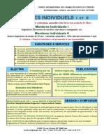 2018 MembresIndividuels Information
