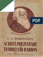 Scurta Prezentare a Teoriei Lui Darwin (C.a.timiriazev; Ed. de Stat 1949)