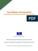 Sobre Sexualidad y Discapacidad