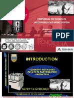 Empirical Deign Methods in UG Mine_rpakalnis