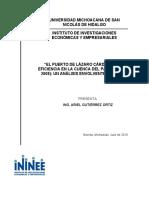 """""""EL PUERTO DE LÁZARO CÁRDENAS Y SU EFICIENCIA EN LA CUENCA DEL PACÍFICO (2003- 2008)"""