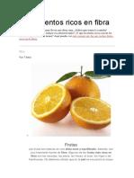 7 Alimentos Ricos en Fibra