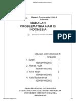 Makalah Problematika HAM Di Indonesia