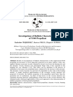Investigations of Ballistic Characteristics of N340 Propellant