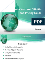 Explaining Equity Warrants Product and Valuation