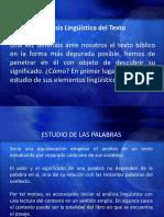 Hermeneutica - 11 Oct - Análisis Linguistico Del Texto
