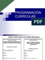 Programacion Curricular 2015