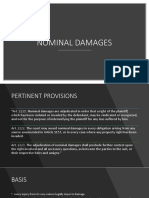 Nominal and Temperate Damages