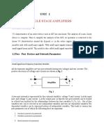 Edc Unit 5 Small Signal Low Freq BJT Models