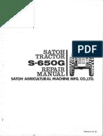 Satoh S650G Repair Manual