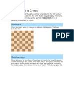 Introduction of Chess