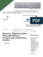 Observación de Reservas de Gas en Bolivia
