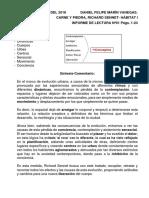 Informe de Lectura #01 Mapa Mental - RICHARD SENNET CARNE Y PIEDRA CAPITULO 1