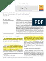 Demand Side Management Benefits and Challenges - Goran Strbac