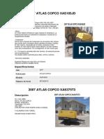 2007 Atlas Copco Xas185jd