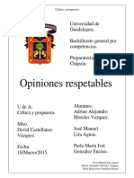 Opiniones respetables