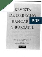 Revista Derecho Bancario- Calif. Concural Crédito Olivencia