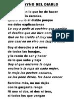 Huayno Del Diablo Letra