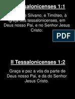 II Tessalonicenses - 001