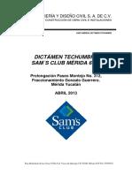 Dictamen Techumbre Sam's Mérida 6576