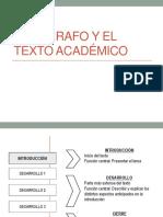 Texto Acadeìmico y Paìrrafo