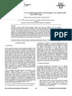 Modelo Orientado de Control de Un Turbocompresor de Geomteria Variable