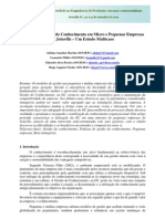 Conepro-sul 2010 (Artigo) - Práticas de Gestão do Conhecimento em Micro e Pequenas Empresas de Joinville – Um Estudo Multicaso