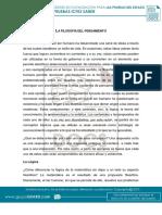 29. LA FILOSOFÍA DEL PENSAMIENTO, saber 11°, filosofía, G.J, D.24