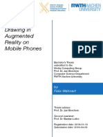 Pen-based Drawing in Augmented Reality on Mobile Phones