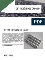 Electro Obtención Del Cadmio