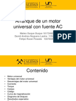 Arranque de un motor universal con fuente AC