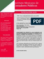 Noticias fiscales # 85 IMCP
