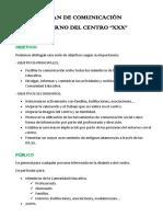 Plan de Comunicación Interna y Externa. 2.3.