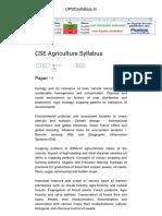 CSE Agriculture Syllabus - 2016-2017 _ UPSCsyllabus
