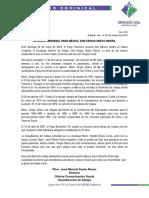 Comunicado Dominical 20 v 18