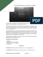 Manual Configuración de Ubuntu Server en Red LAN Virtual