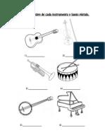 Escribí El Nombre de Cada Instrumento y Luego Pintalo
