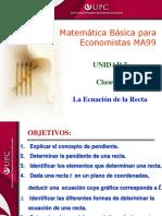 Clase 2.2 MBE Ecuación de La Recta