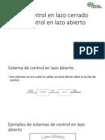 Control en Lazo Abierto vs Control en Lazo Cerrado
