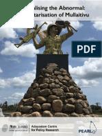 Mapping Mullaitivu Militarisation Report - Final