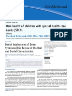 Oral Health of Children With Special Health Care Needs
