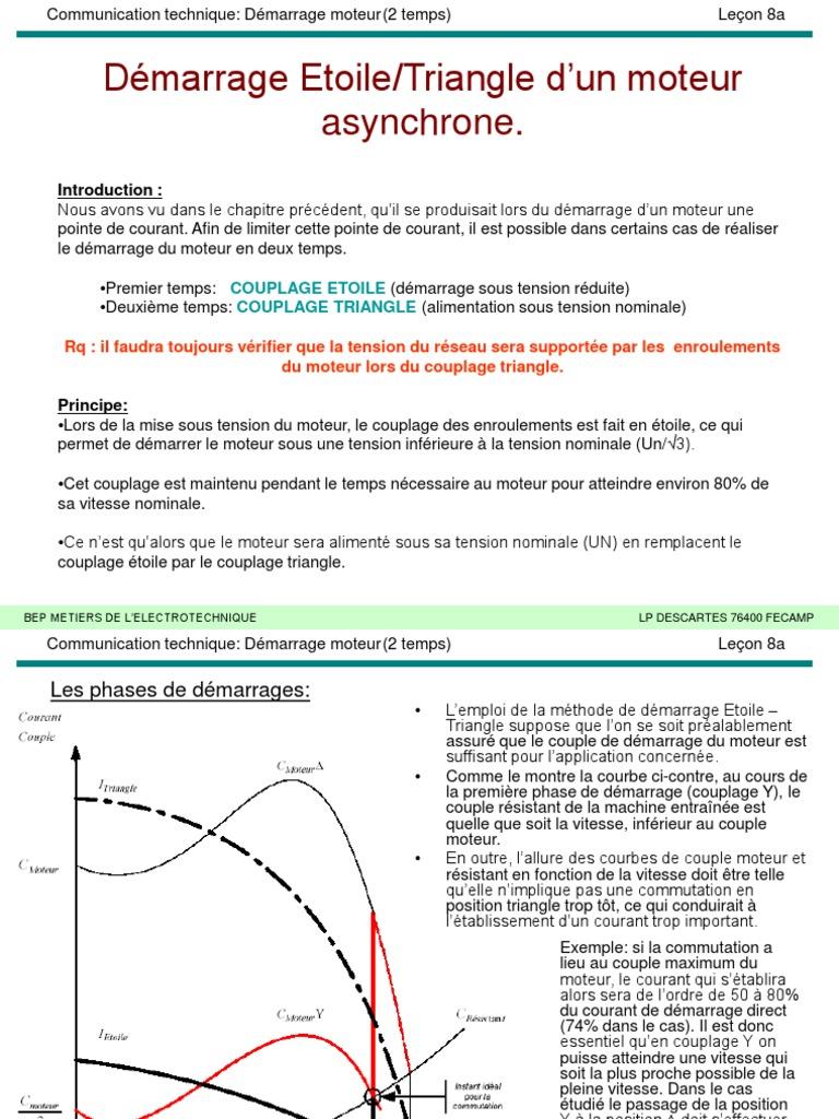 The Electro Tech Cours Démarrage étoile Triangle Dun