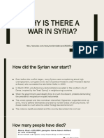 Why is There a War in Syria