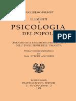 Wundt W. - Psicologia Dei Popoli