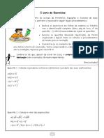 I Lista de Exercícios II Trimestre - 8° ano publicação